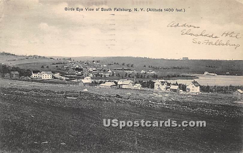 Birds Eye View - South Fallsburg, New York NY Postcard