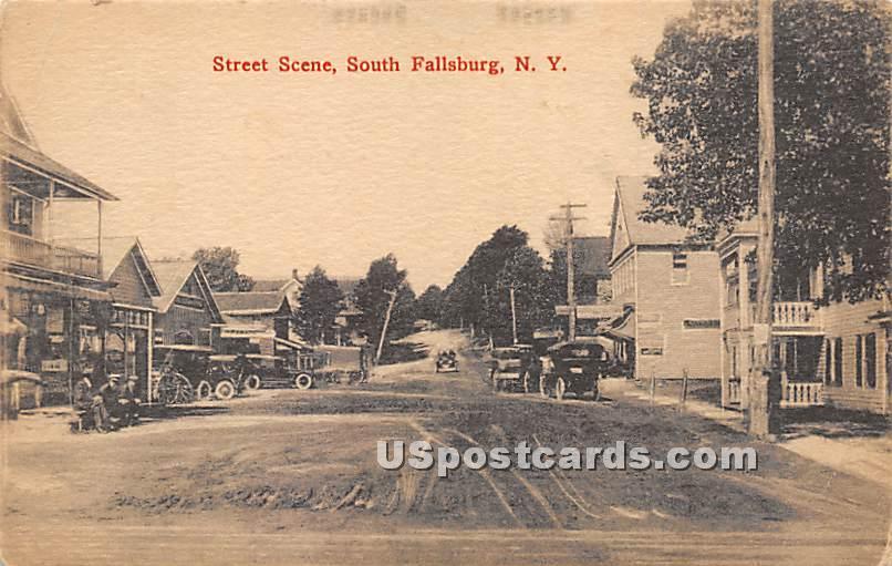 Street Scene - South Fallsburg, New York NY Postcard