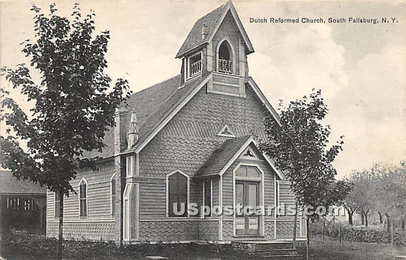 Dutch Reformed Church - South Fallsburg, New York NY Postcard