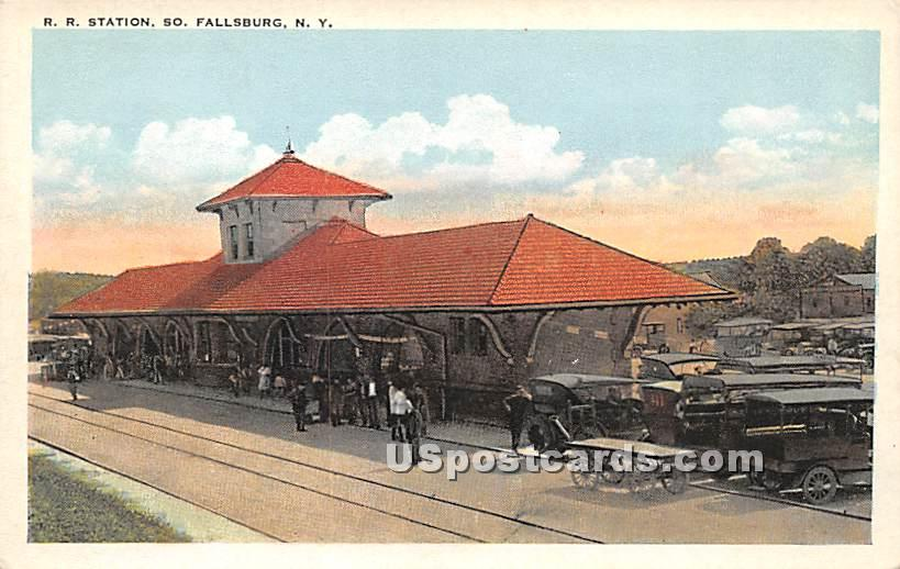 R R Station - South Fallsburg, New York NY Postcard