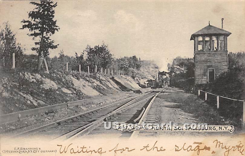 Going North - South Fallsburg, New York NY Postcard