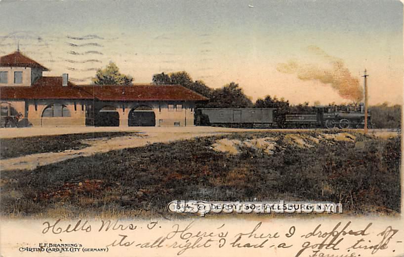 Depot - South Fallsburg, New York NY Postcard