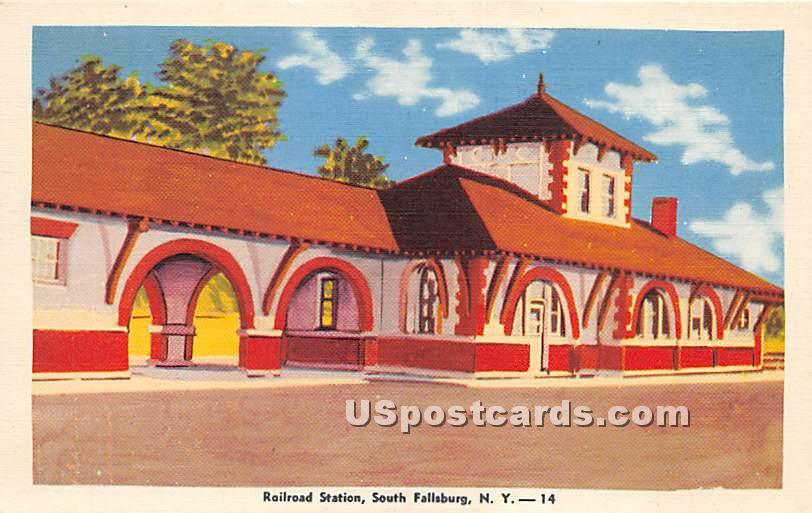 Railroad Station - South Fallsburg, New York NY Postcard