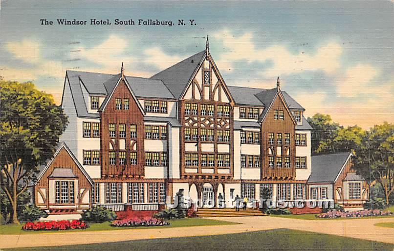 The Windsor Hotel - South Fallsburg, New York NY Postcard