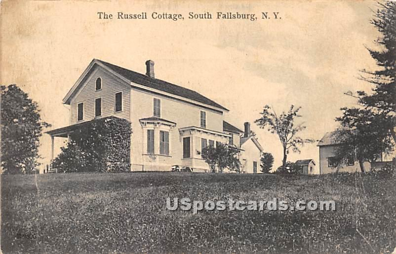 The Russell Cottage - South Fallsburg, New York NY Postcard