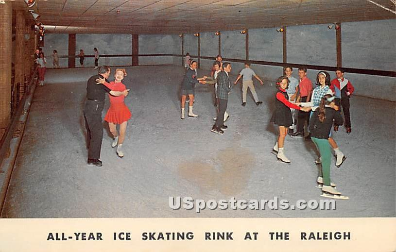 Ice Skating Rink - South Fallsburg, New York NY Postcard