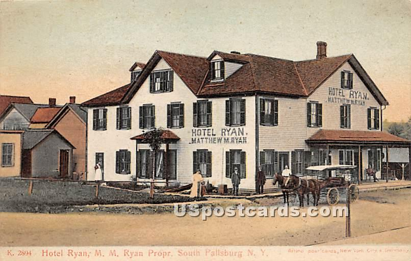 Hotel Ryan - South Fallsburg, New York NY Postcard