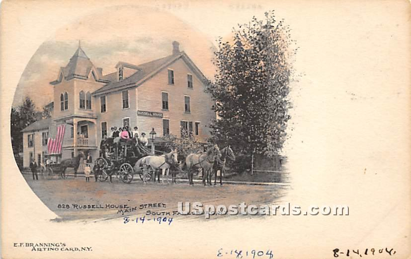 Russell House - South Fallsburg, New York NY Postcard
