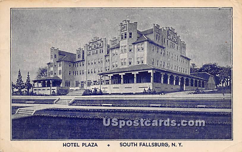 Hotel Plaza - South Fallsburg, New York NY Postcard