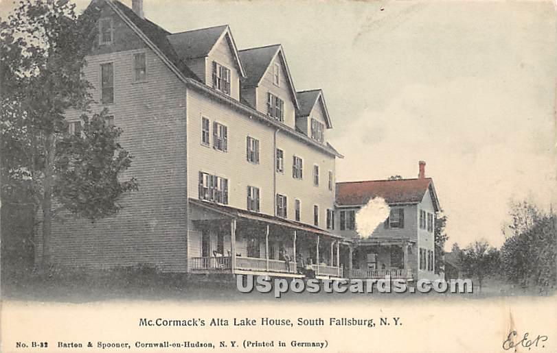 Mc Cormacks' Alta Lake House - South Fallsburg, New York NY Postcard