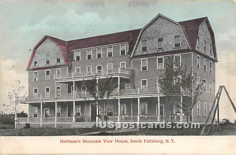 Hoffman's Mountain View House - South Fallsburg, New York NY Postcard