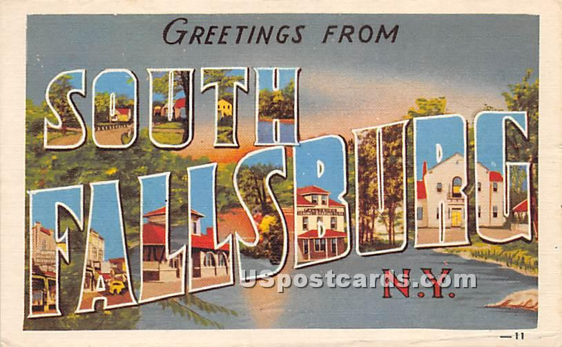 Greetings from - South Fallsburg, New York NY Postcard