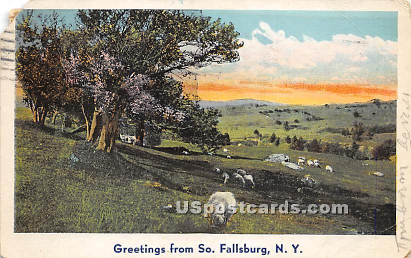 Greetings from - South Fallsburg, New York NY Postcard