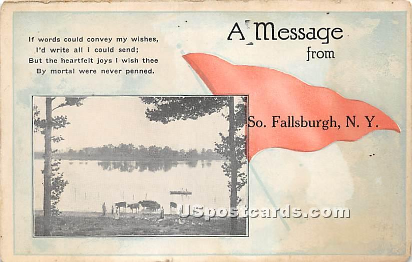 A Message From - South Fallsburg, New York NY Postcard