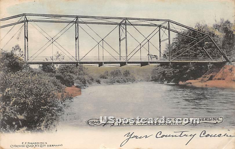 Bridge at Dennison's Ford - South Fallsburg, New York NY Postcard