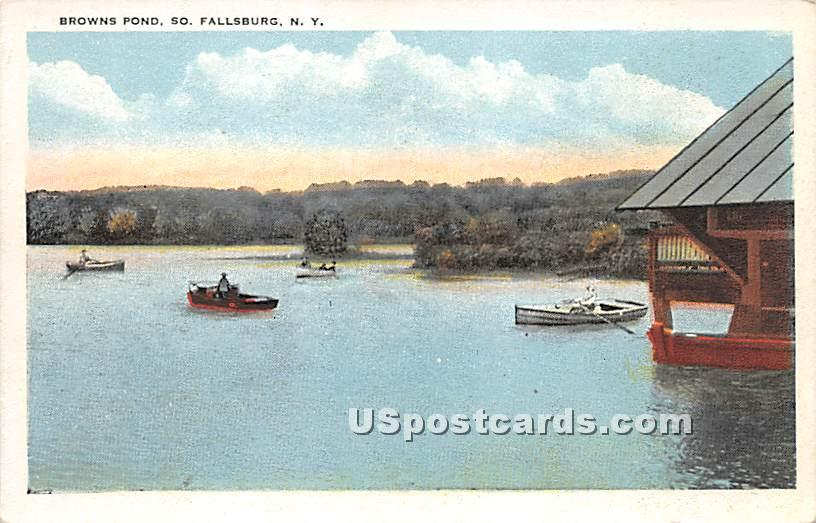 Brown's Pond - South Fallsburg, New York NY Postcard