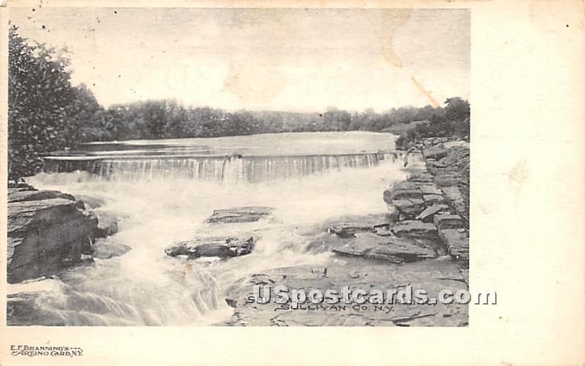 Falls of the Neversink River - South Fallsburg, New York NY Postcard