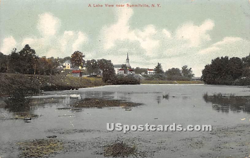 Lake View - Summitville, New York NY Postcard