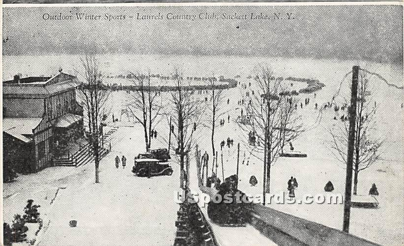Laurels Country Club - Sackett Lake, New York NY Postcard