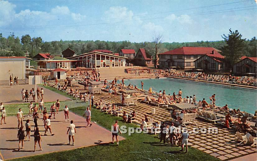 Laurels Hotel & Country Club - Sackett Lake, New York NY Postcard