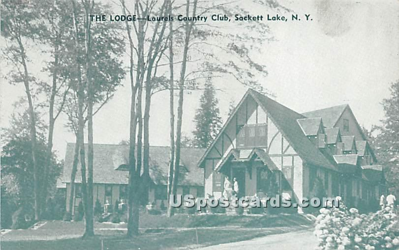 The Lodge - Sackett Lake, New York NY Postcard