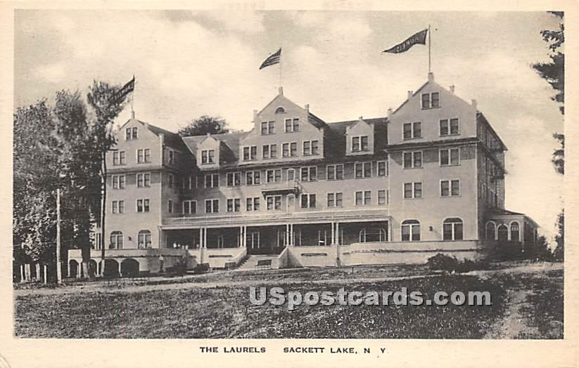 The Laurels - Sackett Lake, New York NY Postcard