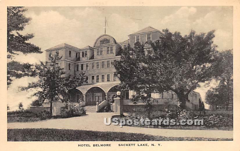Hotel Belmore - Sackett Lake, New York NY Postcard
