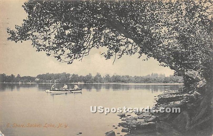 East Shore - Sackett Lake, New York NY Postcard