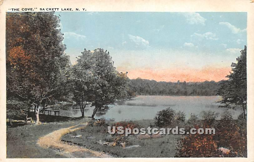 The Cove - Sackett Lake, New York NY Postcard