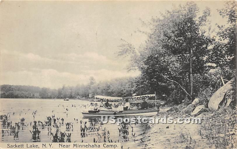 Near Minnehaha Camp - Sackett Lake, New York NY Postcard
