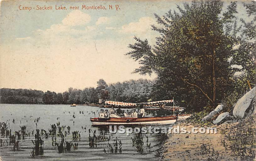 Camp - Sackett Lake, New York NY Postcard