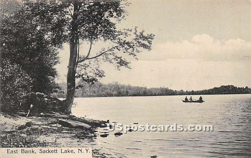 Eat Bank - Sackett Lake, New York NY Postcard