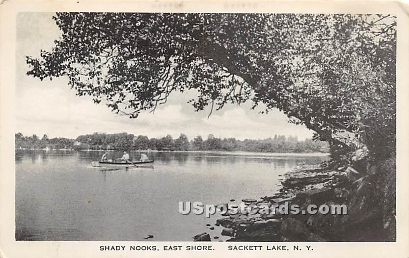 Shady Nooks - Sackett Lake, New York NY Postcard
