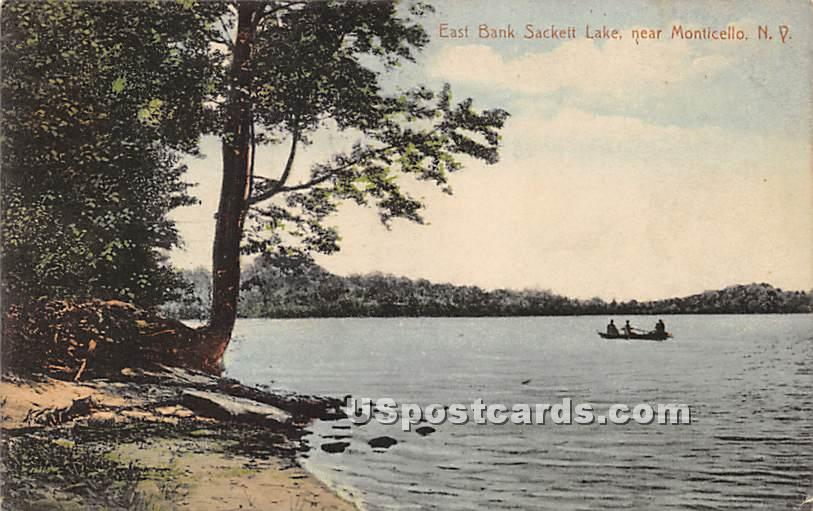East Bank - Sackett Lake, New York NY Postcard