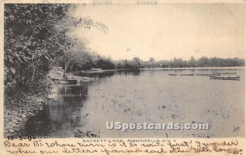 Lake View - Sackett Lake, New York NY Postcard