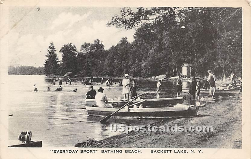 Everyday Sport - Sackett Lake, New York NY Postcard