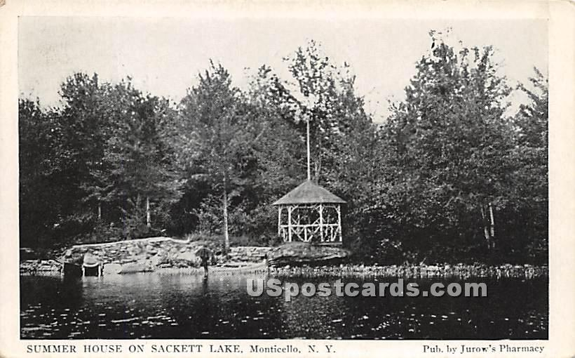 Summer House on Lake - Sackett Lake, New York NY Postcard
