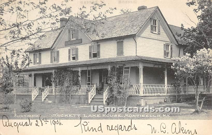Sackett Lake House - New York NY Postcard