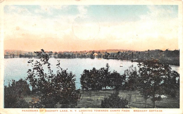 Towards Camps Sackett Lake, New York Postcard