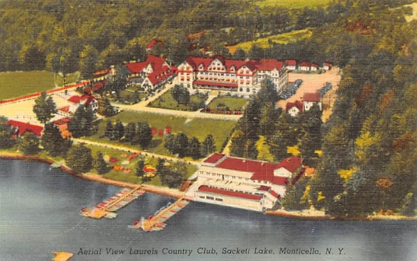 Laurels Country Club Sackett Lake, New York Postcard