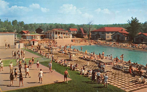 Laurels Hotel & Country Club Sackett Lake, New York Postcard