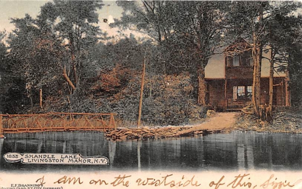 Shandle Lake Shandelee, New York Postcard