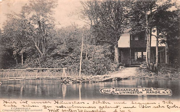 Schandlee Lake Shandelee, New York Postcard