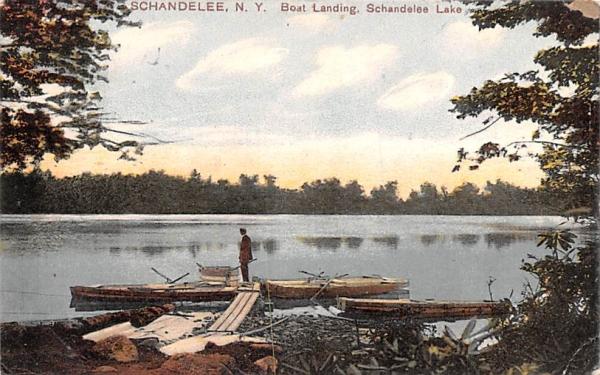 Boat Landing Shandelee, New York Postcard