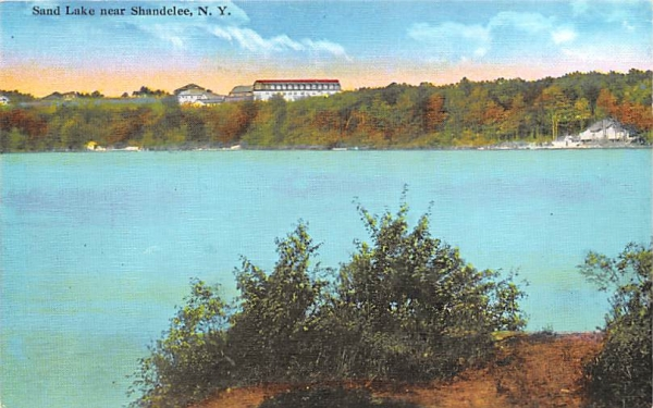 Sand Lake Shandelee, New York Postcard