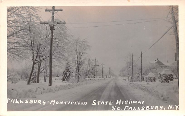 Fallsburg Monticello State Highway South Fallsburg, New York Postcard