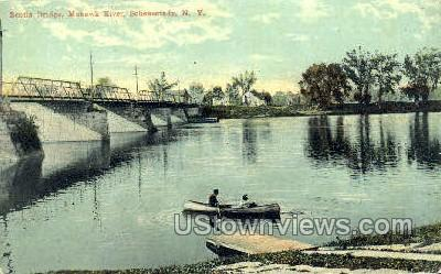 Scotia Bridge - Schenectady, New York NY Postcard