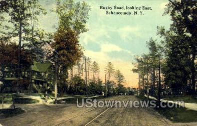 Rugby Road - Schenectady, New York NY Postcard
