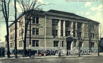 High School, Schenectady - New York NY Postcard
