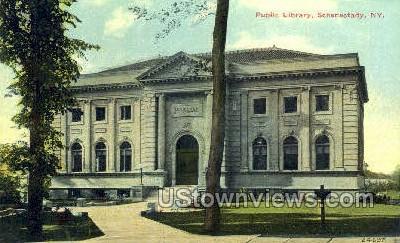 Public Library - Schenectady, New York NY Postcard